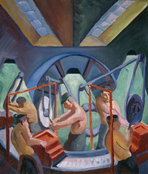 Bernard Baruch Zakheim - Untitled (Factory Scene Inspired by Mayfried Odner)