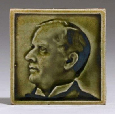 Fred H. Robertson - Green Portrait Tile