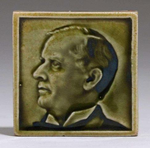 Fred H. Robertson - Green Portrait Tile