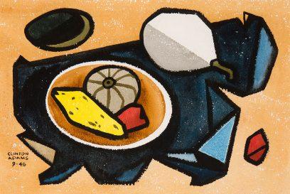 Clinton Adams – Still Life with Gourds