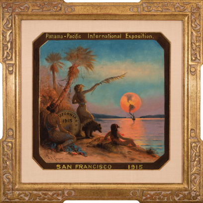 Astley David Middleton Cooper – Proposed Seal of the 1915 Panama-Pacific International Exposition (Octagonal Image)