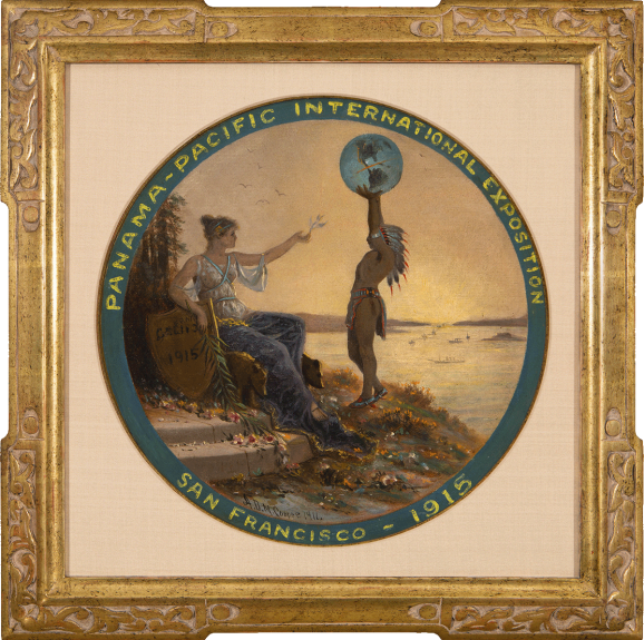 Astley David Middleton Cooper - Proposed Seal of the 1915 Panama-Pacific International Exposition (Round Image)