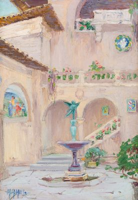 Anna Althea Hills - Court of the Italian Building, San Francisco Exposition - 1915