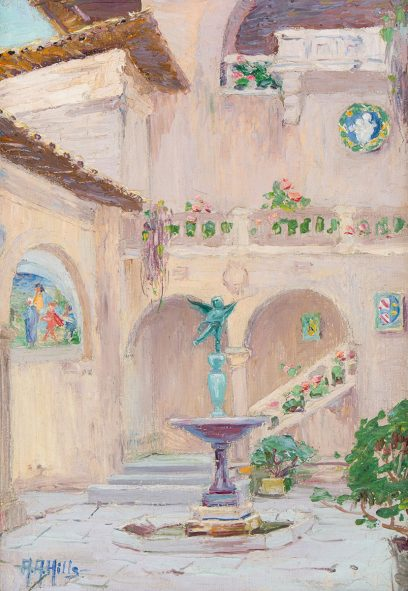 Anna Althea Hills – Court of the Italian Building, San Francisco Exposition – 1915