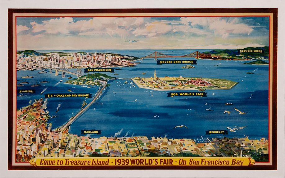 Kenneth Sawyer - Come to Treasure Island – 1939 World's Fair – On San Francisco Bay